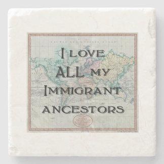 I Liebe alle meine einwandernden Steinuntersetzer