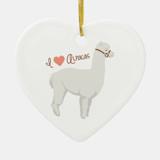 I Liebe-Alpakas Keramik Ornament