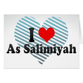 I Liebe als Salimiyah, Kuwait Karte