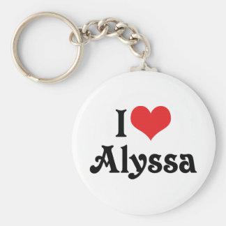 I Liebe Alyssa Schlüsselanhänger