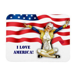 I Liebe Amerika. US patriotischer Button-Oben Magnet