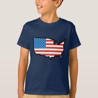 I Liebe Amerika - Vereinigte Staaten kennzeichnen T-Shirt