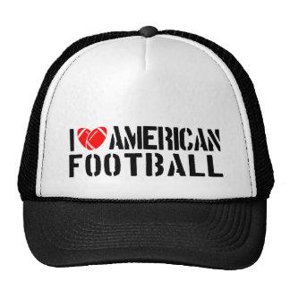 I Liebe-amerikanischer Fußball Baseballkappen
