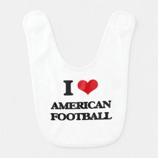 I Liebe-amerikanischer Fußball Lätzchen