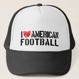 I Liebe-amerikanischer Fußball Truckerkappe