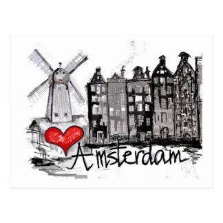 I Liebe Amsterdam Postkarte