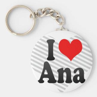 I Liebe Ana Standard Runder Schlüsselanhänger