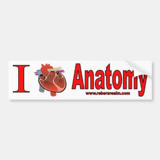 I Liebe-Anatomie Autoaufkleber