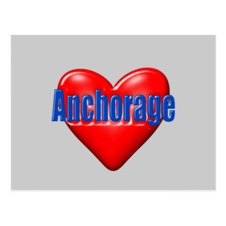 I Liebe Anchorage Alaska Postkarte
