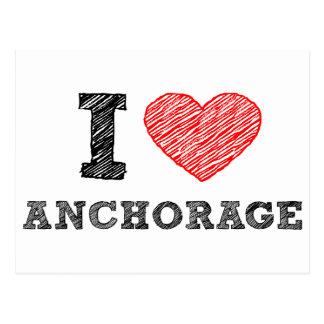 I Liebe Anchorage Postkarte