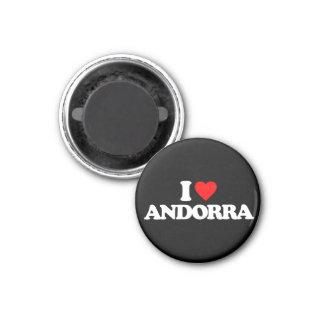 I LIEBE ANDORRA RUNDER MAGNET 3,2 CM