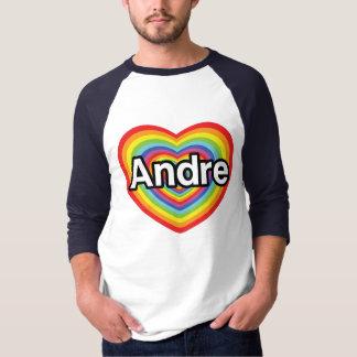 I Liebe Andre, Regenbogenherz T-Shirt