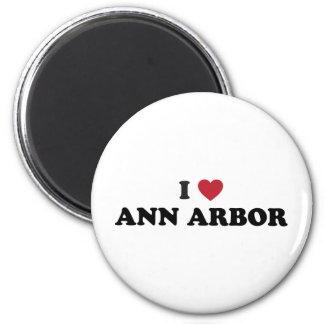 I Liebe Ann Arbor Michigan Runder Magnet 5,7 Cm