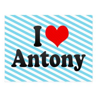 I Liebe Antony Postkarte