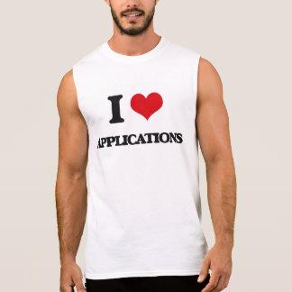 I Liebe-Anwendungen Ärmellose T-Shirts