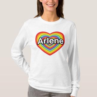 I Liebe Arlene, Regenbogenherz T-Shirt