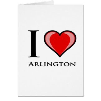 I Liebe Arlington Karte