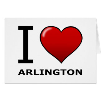 I LIEBE ARLINGTON, TX - Texas Karte