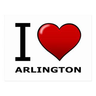 I LIEBE ARLINGTON, TX - Texas Postkarte