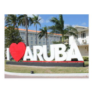 I Liebe Aruba - eine glückliche Insel Postkarte