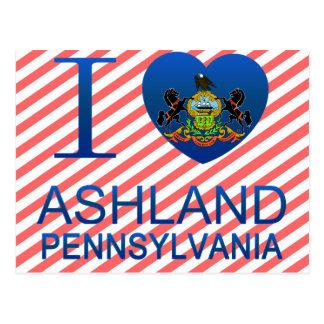 I Liebe Ashland, PA Postkarte