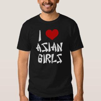 I Liebe-asiatisches Mädchen-Shirt Tshirts