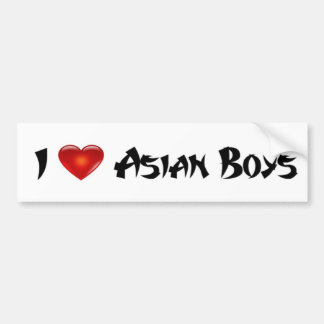 I Liebe-Asiats-Jungen Autoaufkleber