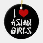 I Liebe-Asiats-Mädchen Ornament