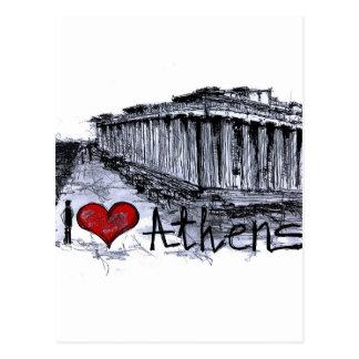 I Liebe Athen Postkarte