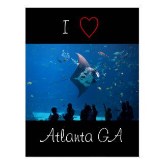 I Liebe Atlanta Postkarte
