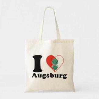 I Liebe Augsburg Leinentaschen