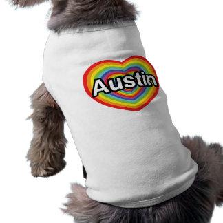 I Liebe Austin, Regenbogenherz T-Shirt
