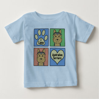 I Liebe-australische Terrier Baby T-shirt