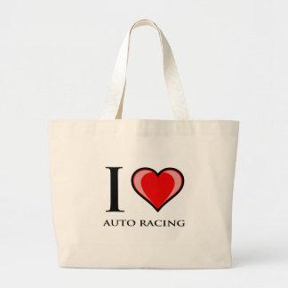 I Liebe-Auto-Laufen Leinentaschen