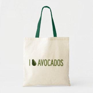 I Liebe-Avocados Budget Stoffbeutel