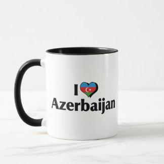 I Liebe-Azerbaijan-Flagge Tasse