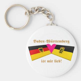 I Liebe-Baden-Württemberg ist-MIR lieb Standard Runder Schlüsselanhänger