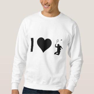 I Liebe-Badminton Sweatshirt