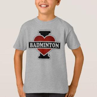 I Liebe-Badminton T-Shirt