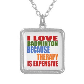 I Liebe-Badminton, weil Therapie teuer ist Versilberte Kette