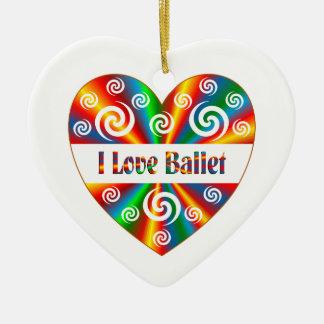 I Liebe-Ballett Keramik Herz-Ornament