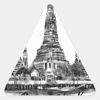 I Liebe Bangkok Dreieckiger Aufkleber