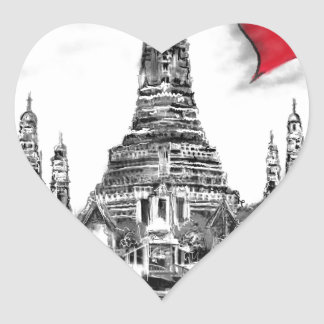I Liebe Bangkok Herz-Aufkleber