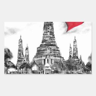 I Liebe Bangkok Rechteckiger Aufkleber