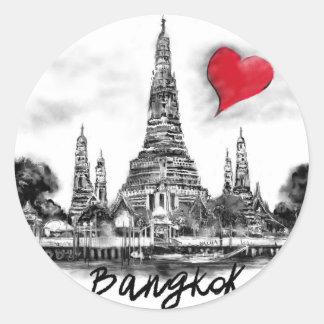 I Liebe Bangkok Runder Aufkleber