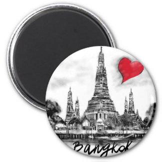 I Liebe Bangkok Runder Magnet 5,1 Cm