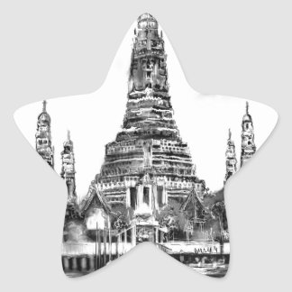 I Liebe Bangkok Stern-Aufkleber