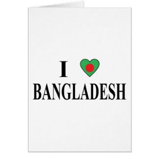 I Liebe Bangladesch Karte