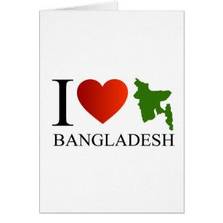 I Liebe Bangladesch mit Karte