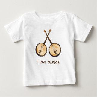 I Liebe-Banjo-Musik-Instrumente Baby T-shirt